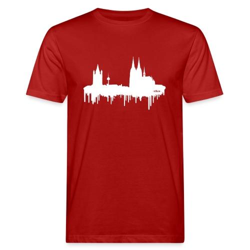 Skyline Köln - Weiß - Männer Bio-T-Shirt