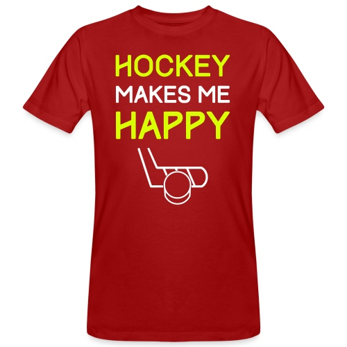Hockey Makes Me Happy - Men's Organic T-Shirt
