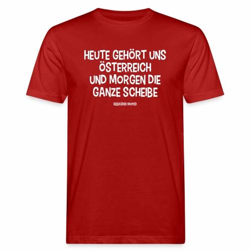 Scheibe Österreich - Männer Bio-T-Shirt