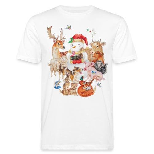 winter animals - Men's Organic T-Shirt