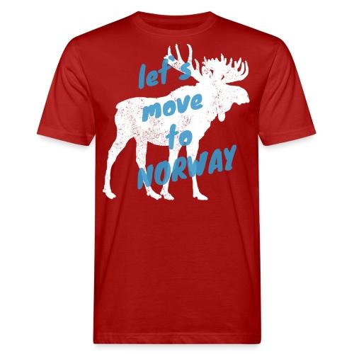 Norwegen Elch Auswandern Umzug Geschenk - Männer Bio-T-Shirt