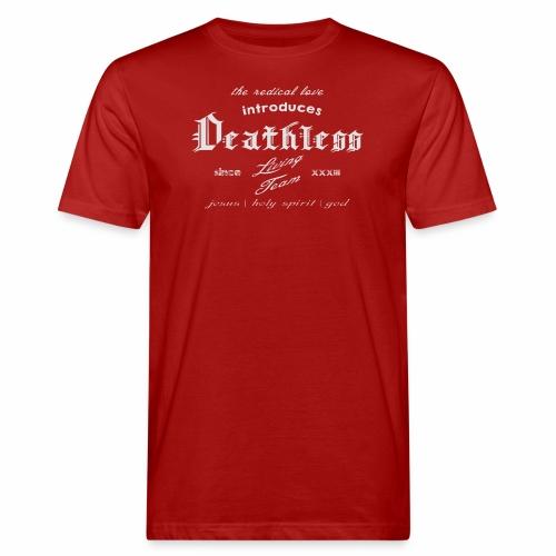 deathless living team grau - Männer Bio-T-Shirt