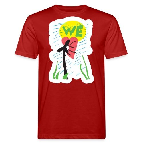 windrad pixel - Männer Bio-T-Shirt