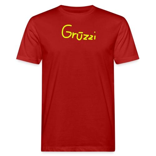 Grüzzi Handgeschrieben - Männer Bio-T-Shirt