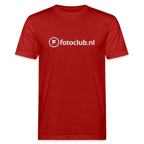 Logo Wit Fotoclublnl - Mannen Bio-T-shirt