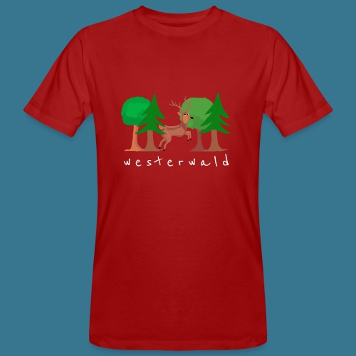 Westerwälder Wildlife - Männer Bio-T-Shirt