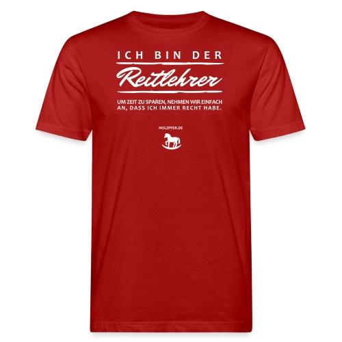 Reitlehrer - Männer Bio-T-Shirt