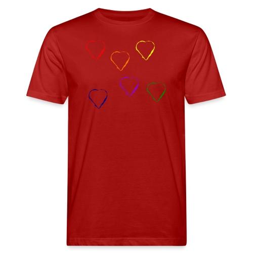 Tanzende Herzen 20.1 - Männer Bio-T-Shirt