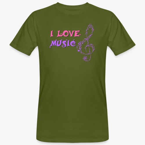 Love Music - Camiseta ecológica hombre