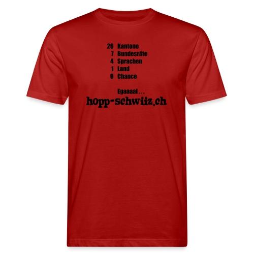 Egal hopp-schwiiz.ch - Männer Bio-T-Shirt
