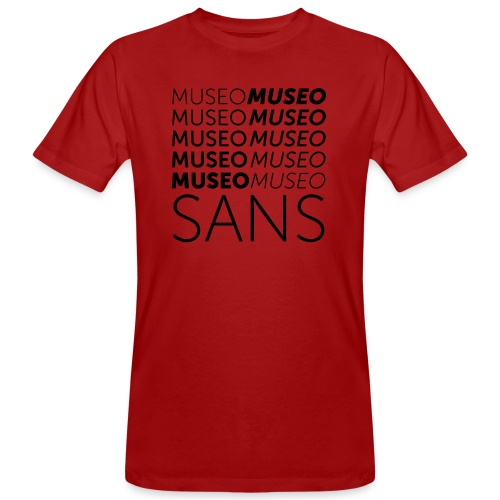 museo sans - Men's Organic T-Shirt
