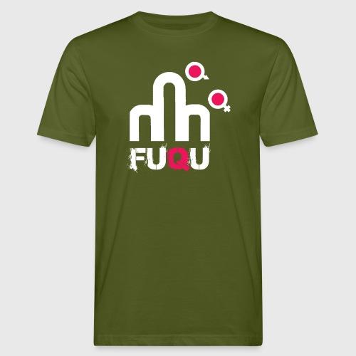 T-shirt FUQU logo colore bianco - T-shirt ecologica da uomo