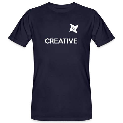 Creative simple black and white shirt - Organic mænd