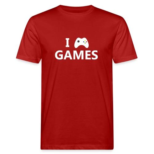 I Love Games 2 - Camiseta ecológica hombre