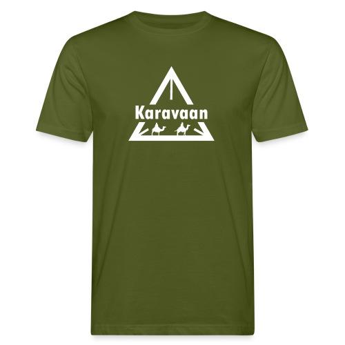 Karavaan White (High Res) - Mannen Bio-T-shirt