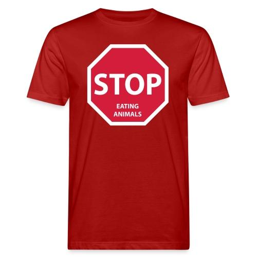 Stop-Eating-Animals - Männer Bio-T-Shirt