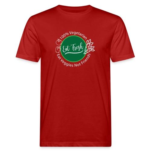 Gezond eten vegetarische t-shirt - Mannen Bio-T-shirt
