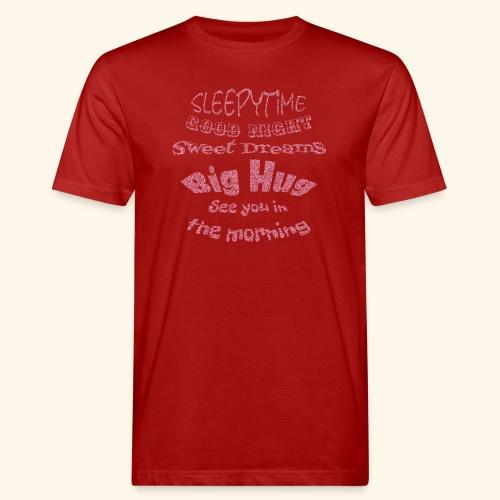 SleepyTime in soft pink - Mannen Bio-T-shirt