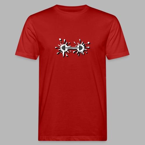 Hantel Splash - Männer Bio-T-Shirt
