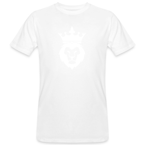 Lion_Logo_with_Crown_St--rre_bild_-white- - Ekologisk T-shirt herr