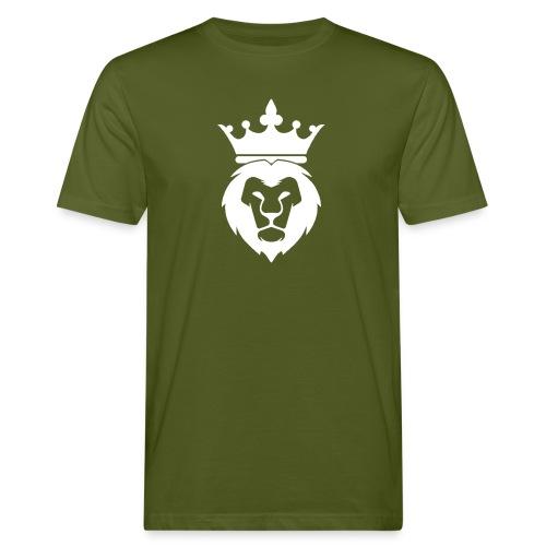 Lion_Logo_with_Crown_St--rre_bild_-white- - Ekologisk T-shirt herr