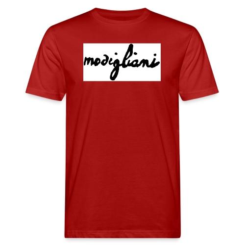 firm_white_black_big - T-shirt ecologica da uomo