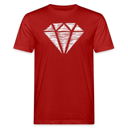 Diamante blanco - Camiseta ecológica hombre