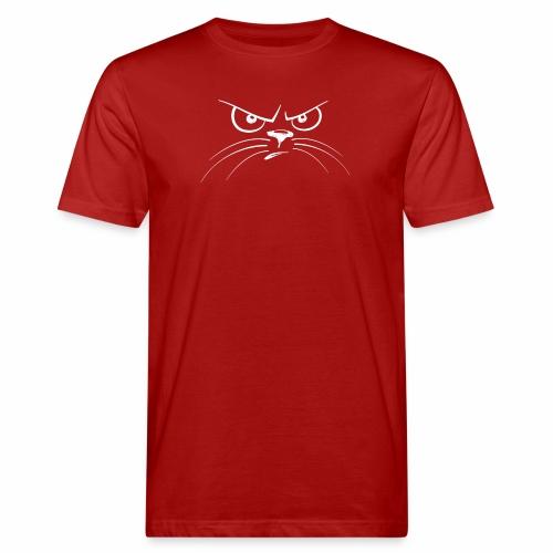 GATTO ARRABBIATO BIANCO - ANGRY CAT - T-shirt ecologica da uomo