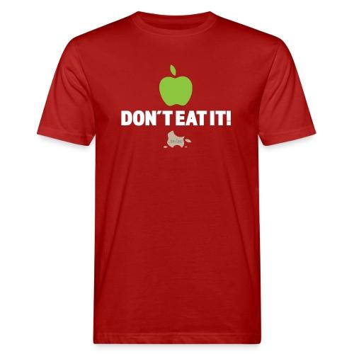 Apple don't eat it dark fabric - Økologisk T-skjorte for menn