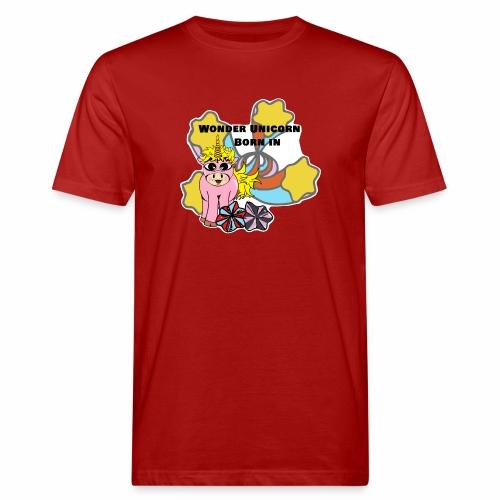 Merveilleuse Licorne née (pour fille) - T-shirt bio Homme