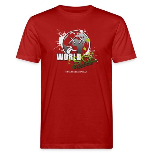 world sick - Männer Bio-T-Shirt
