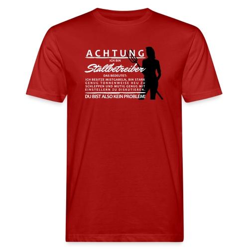 Stallbetreiber2 - Männer Bio-T-Shirt