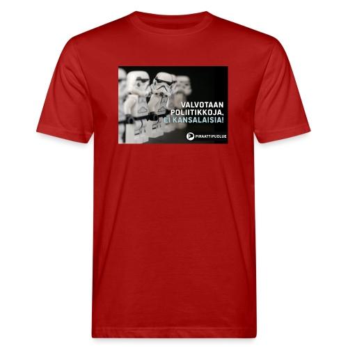 Valvotaan poliittikkoja ei kansalaisia - Miesten luonnonmukainen t-paita