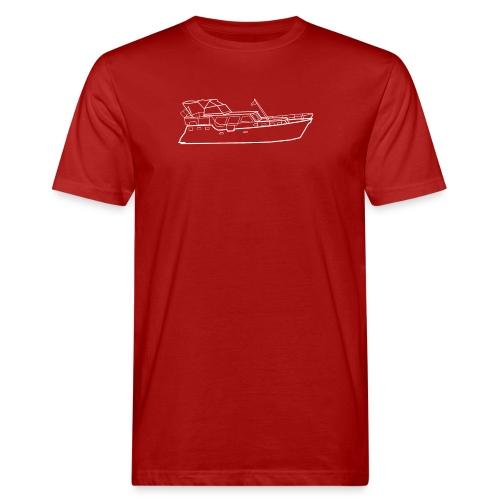Hausboot Weiss - Männer Bio-T-Shirt