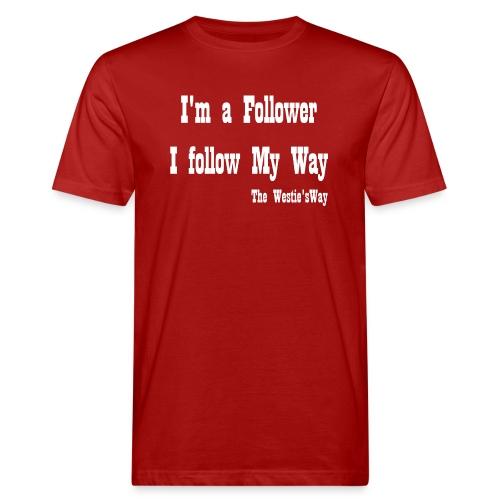 I follow My Way White - Ekologiczna koszulka męska