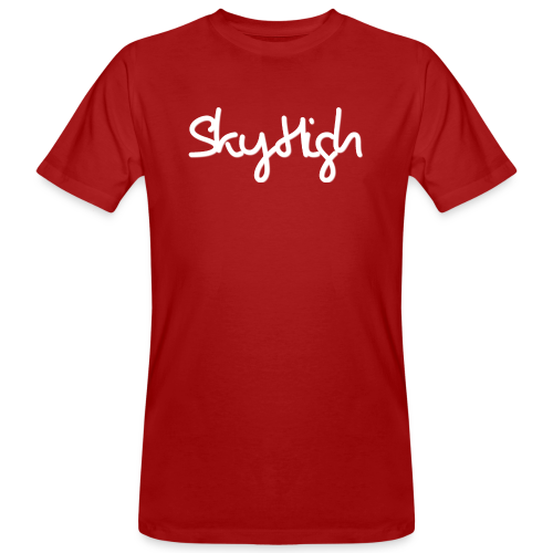 SkyHigh - Snapback - (Printed) White Letters - Men's Organic T-Shirt