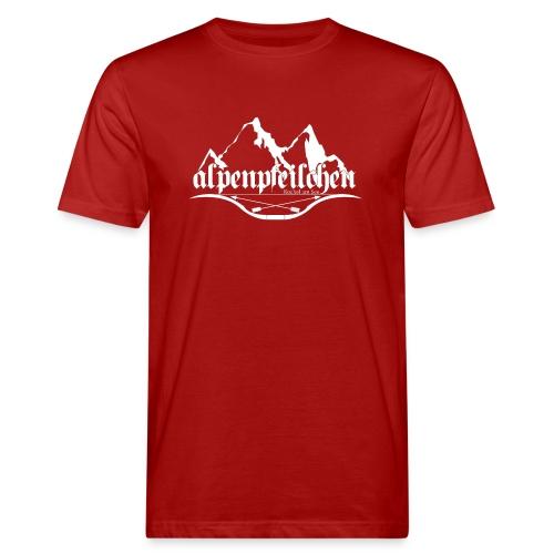 Alpenpfeilchen - Logo - white - Männer Bio-T-Shirt