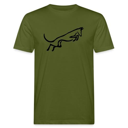 Podenco springt - Männer Bio-T-Shirt