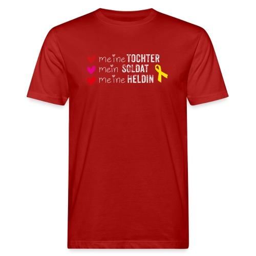 Meine Tochter Soldat Heldin weiss - Männer Bio-T-Shirt