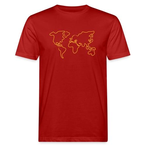 Wereldkaart - Mannen Bio-T-shirt
