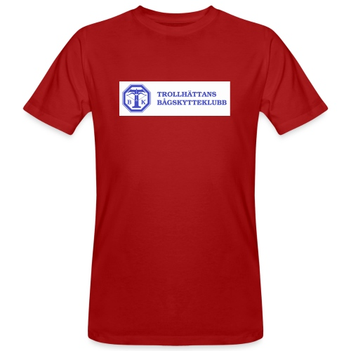 Piké Herr Slim - Tävlingströja med ryggtryck - Ekologisk T-shirt herr
