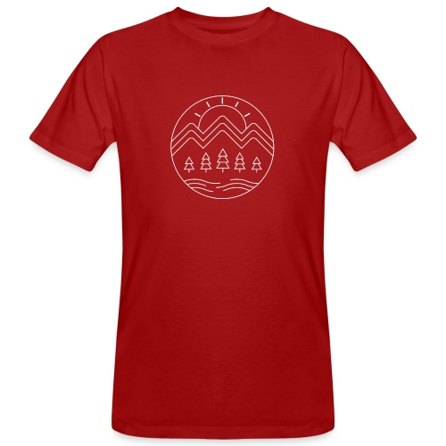 Avontuur in de bergen - Mannen Bio-T-shirt