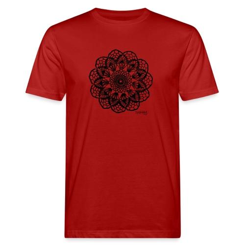 Grannys flower, musta - Miesten luonnonmukainen t-paita
