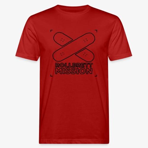 Kubus Kritzel - Männer Bio-T-Shirt