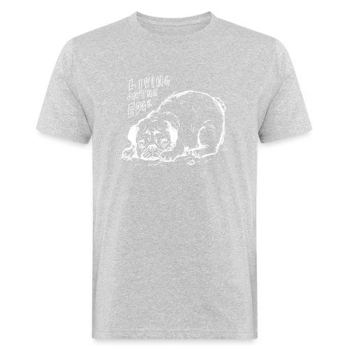 Living on the edge WHITE - Men's Organic T-Shirt