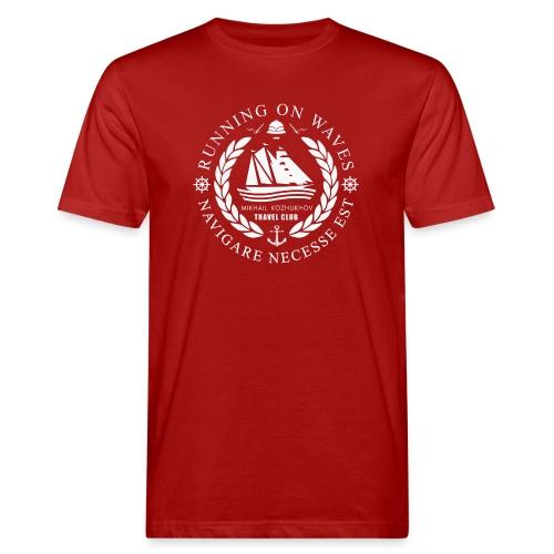 RUNNING ON WAVES (white) - Men's Organic T-Shirt