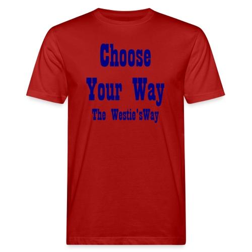 Choose Your Way Navy - Ekologiczna koszulka męska
