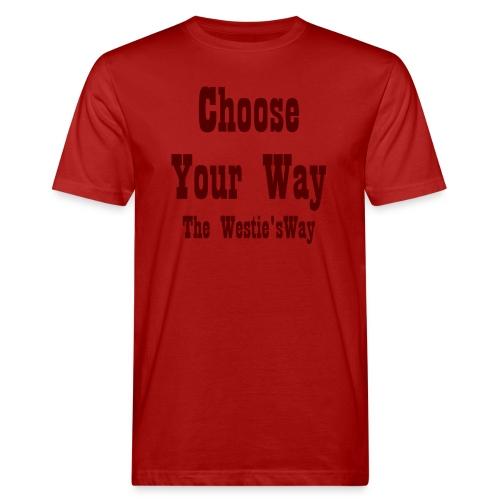 Choose Your Way Brown - Ekologiczna koszulka męska