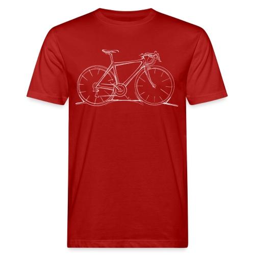 Rennrad Skizze - Männer Bio-T-Shirt