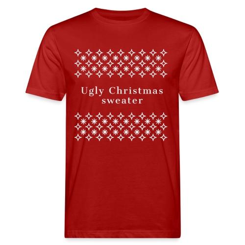 ugly Christmas sweater, maglione natalizio - T-shirt ecologica da uomo